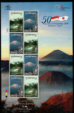 Indonesia 2008 Volcano Joint Issue with Japan, Sheet of 8 Mnh