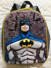 Kids Batman School Bag Grey Rucksack Superhero Marvel Dc Comics