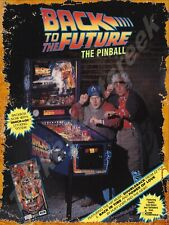 """DATA EAST BACK TO THE FUTURE PINBALL 9"""" x 12"""" METAL SIGN"""