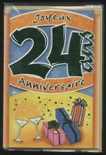 NEUF CARTE ANNIVERSAIRE 24 ANS + ENVELOPPE !! 10 CARTES ACHETEES = PORT GRATUIT