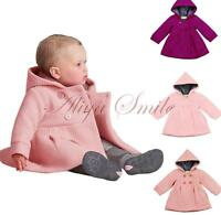 Toddler Kid Baby Girl Winter Windbreaker Trench Coat Hooded Outerwear Jacket Top