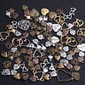 50Pcs Vintage Metal  Mixed Hearts Charms Love Pendant for Jewelry Making
