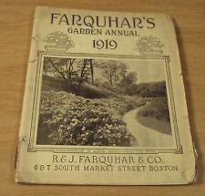"1919 GARDEN Annual/Catalog~""FARQUHAR & Co"" Boston~Seeds/Plants/Tools~"