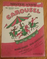 "Mister Snow - from ""Carousel"" Sheet Music 1945"