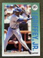 MINT! 1992 Fleer #279 Ken Griffey Jr. Centered Mariners  Baseball Card