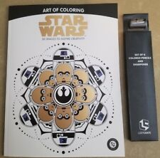 Star Wars Art of Coloring Loot Crate Exclusive Coloring Book with Pencils NEW