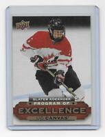 Slater Koekkoek 2015-16 Upper Deck UD Canvas Program of Excellence Canada C262