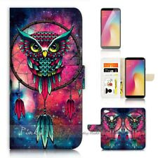 ( For Oppo A73 ) Flip Wallet Case Cover P21589 Dream Catcher Owl