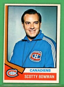 1974 O-Pee-Chee #261 Scotty Bowman RC ROOKIE NM Canadians, Red Wings LEGEND 🐐