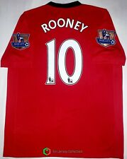 MANCHESTER UNITED 2009-2010 HOME FOOTBALL SOCCER JERSEY #10 ROONEY S'z M