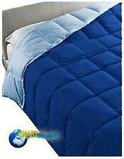Piumino microfibra Matrimoniale letto casa Blu azzurro doublefaces morbido caldo