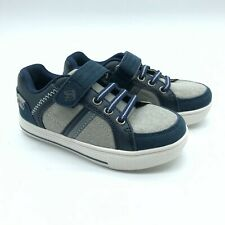 Dream Pairs Toddler Boys Canvas Sneakers Hook & Loop Gray Navy Blue Size 10