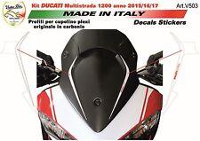 adesivi per cupolino in carbonio Ducati multistrada 1200  950 DVT V503
