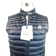 Moncler Gir Gilet Black Down Quilted Nylon Vest Coat Mens Size 2 Small NWD $800