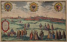 Nürnberg - Nurnberg. Norenberga, urbs - Braun & Hogenberg 1580 -Rares Altkolorit
