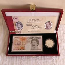 1996 £5 SILVER PROOF + £10 BANKNOTE SET - complete