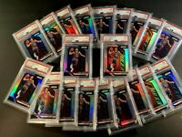 TRAE YOUNG 2018 PANINI PRIZM #78 SILVER REFRACTOR ROOKIE RC PSA 9 (20 CARD LOT)