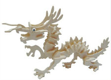 New Wood Assembly DIY Toys for 3D Wooden Model Puzzles of Animals Dragon