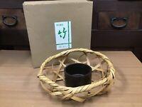 Y0707 FLOWER VASE Bamboo box home decor Japanese antique ikebana kabin Japan