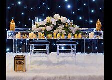 Wedding Display table Clear Acrylic, Perspex.