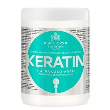 Kallos KJMN Professional Hair Mask 1000ml Keratin Milk Protein for Dry Damaged