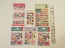 6 NEW-lot-K&COMPANY-JOLEE'S BOUTIQUE-AMERICAN GIRL STICKERS-WORDS-BUTTERFLY-BUGS