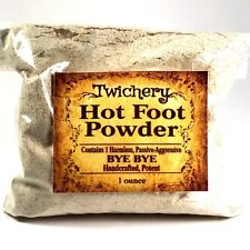 HOT FOOT POWDER, Hoodoo, Wicca, Pagan, Banish, Get Rid of People, Go Away Powder