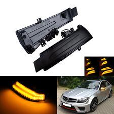 2x Dynamische LED Spiegelblinker schwarz für Mercedes B C ML CLS W204 W166 W246