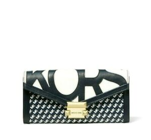 NWT Michael Kors Whitney Large Graphic Logo Chain Wallet Admiral