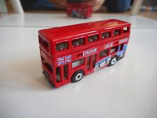 """Matchbox London Bus """"Union Jack Tours"""" in Red"""