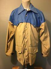 Vtg 70s 80s 2-Tone Mountain Parka Jacket Mens M-L Skiing Hiking Rain Shell Coat
