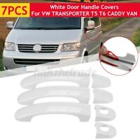 7pcs Set Door Handle Covers Trim White Decor For VW TRANSPORTER T5 T6 CADDY VAN
