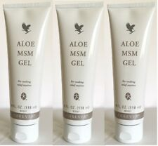 3 Forever Living Aloe MSM Gel -Relief for Pain& Joints Artritis-4 fl oz,Exp.2022