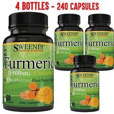 Turmeric Curcumin with Bioperine 1500mg Premium Potency! 95% Standardized NO-GMO