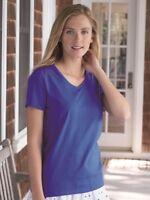 Hanes - Women's Tagless V-Neck T-Shirt - 5780
