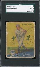 1934 Goudey #1   Jimmy Foxx   HOF   SGC 10!!!!