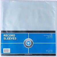 "(100) New CSP 33 1/3 RPM Record Album Clear Polypropylene Sleeves 12.75 X 13"""