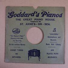 "10"" 78rpm gramophone record sleeve GODARD`S PIANOS , ST ANNES ON SEA"