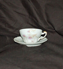 (1) Theodore Haviland Smaller Cup and Saucer Set   Schleiger  #1035