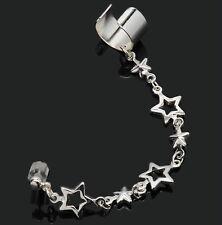 Ohrklemme Sterne Kette Ear Cuff Ohrstecker Ohrclip Ohr-Stulpe Ohrring