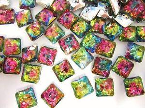 20 Multi-Color Jewel Rhinestone 12mm Sewing Button/2 hole/sewing/trim Sb7-Square