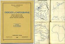 Exercices Cartographie Fin d'Etude Terres et Mers du Globe 1951 Istra Jaguelin