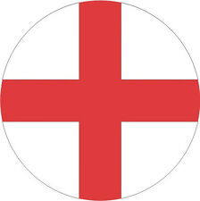 Inglaterra Georges Cruzado Bandera Nacional Redondo Icon Pegatina Gráfica Vinilo