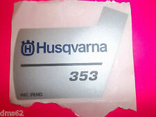 NEW HUSQVARNA RECOIL STARTER DECAL FITS 353 SAWS 537370510  OEM