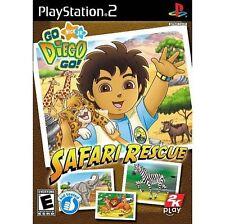 Go Diego Go Safari Rescue PS2 PlayStation 2 Video Juego Perfecto estado UK release