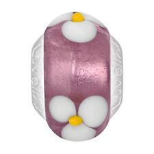 Lovelinks Bead Flower In Rose Coloured Bronze Silver Bud Charm Jewelry TT018BZ