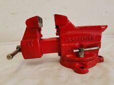 """Vintage Craftsman 391-5180 Swivel Bench Anvil Vise 3 5/8"""" Jaws"""