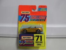 Matchbox 75 Challenge 1997 Edition Mustang Cobra #71