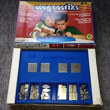 Vintage MAGNASTIKS The Magnetic Construction Game by Regev Industries VERY RARE