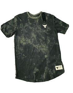 Under Armour Mens Project Rock Veterans Day All Over Graphic T-Shirt Green XL M